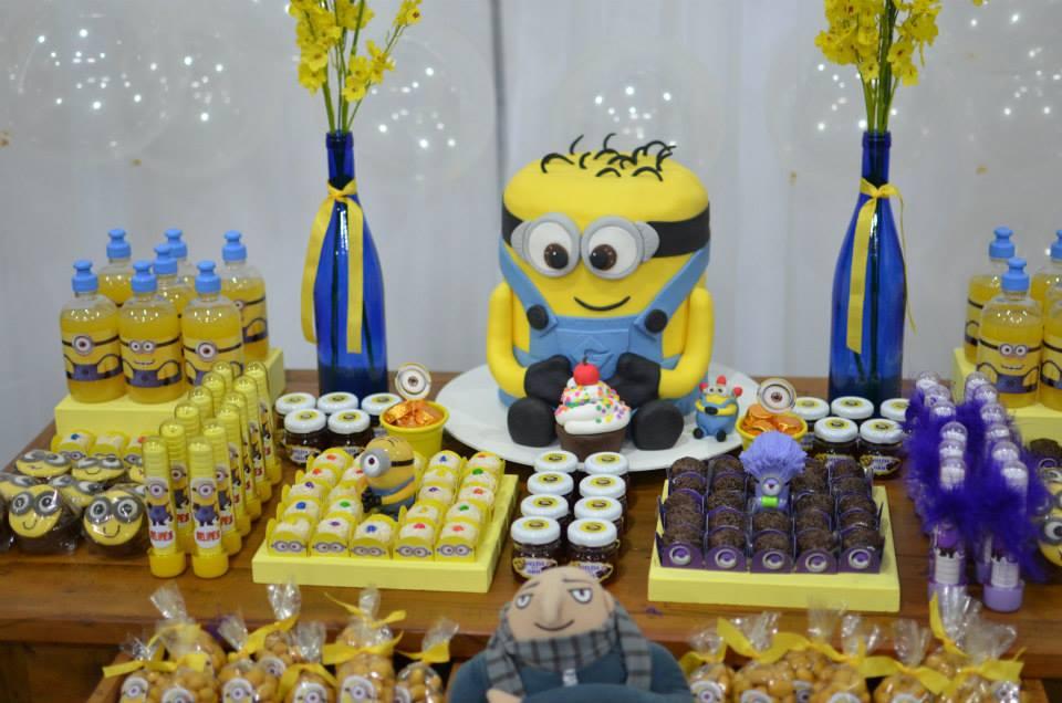 decoração festa minion diy