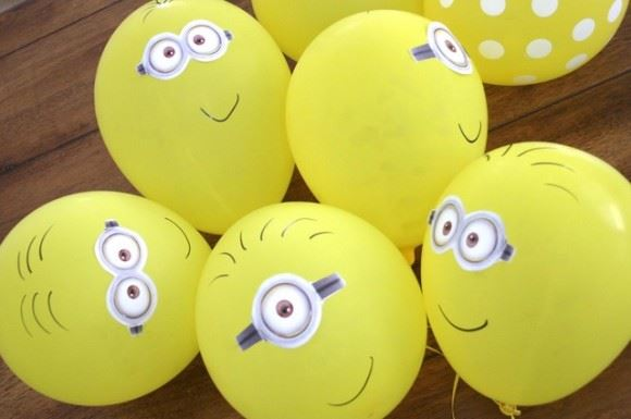 decoração festa minion