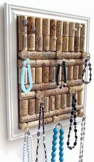 decoração rolhas de cortiça porta joias