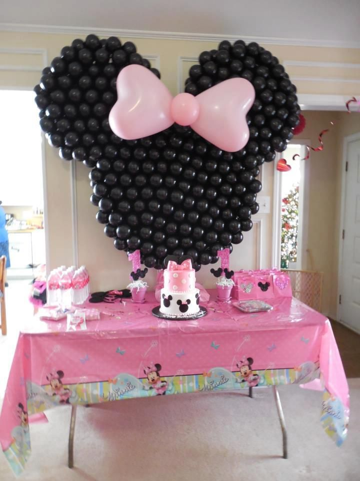 decoraçao baloes festa minnie