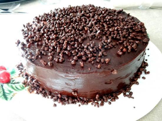 decoraçao bolo chocolate