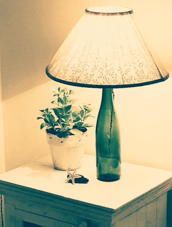 decoraçao candeeiro garrfa
