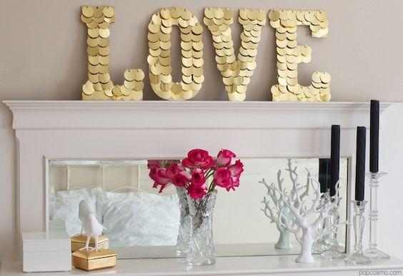 decoraçao com letras