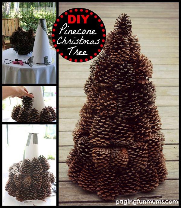 decoraçao com pinhas arvore de natal