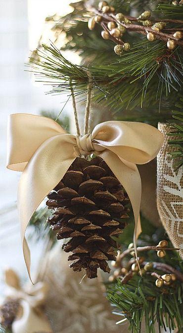 decoraçao com pinhas