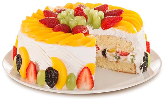 decoraçao de bolos com fruta