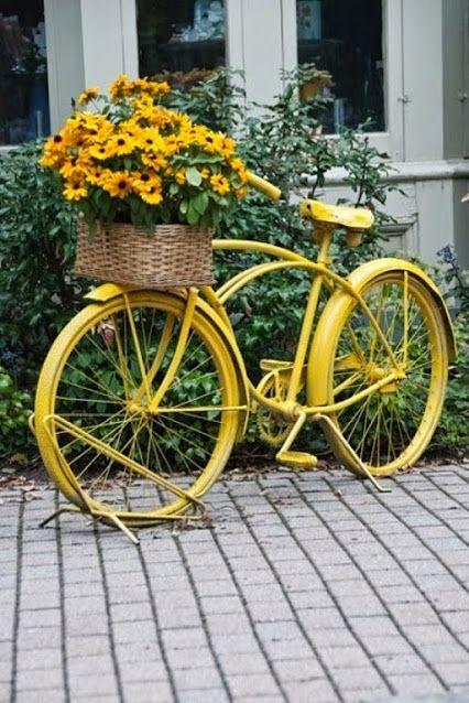 decoraçao de jardim bicicleta floreira