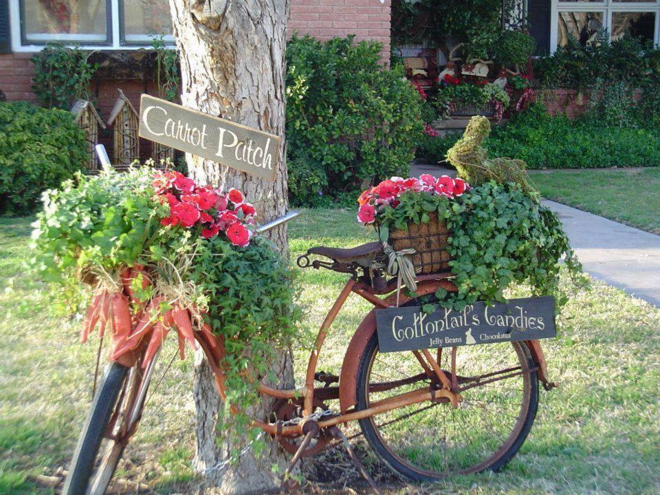 decoraçao de jardim bicicleta