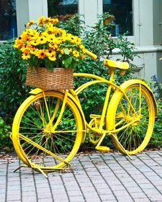 decoraçao de jardim com bicicletas 2