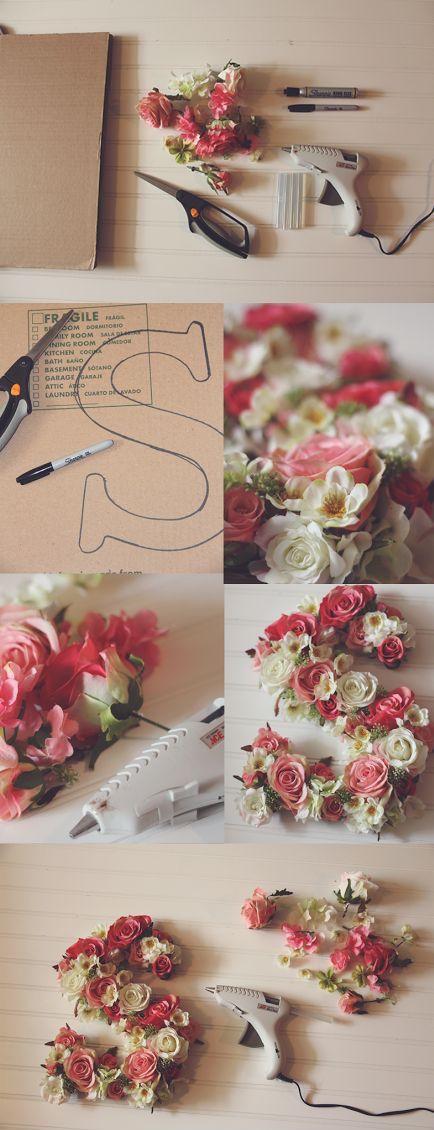 decoraçao de letras flores