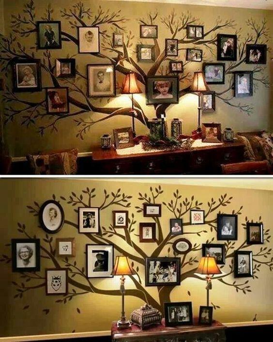 decoraçao de paredes com fotografias