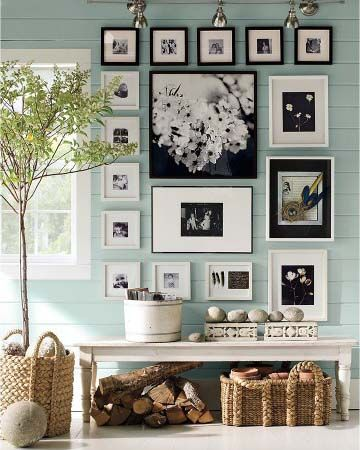 decoraçao de paredes com molduras