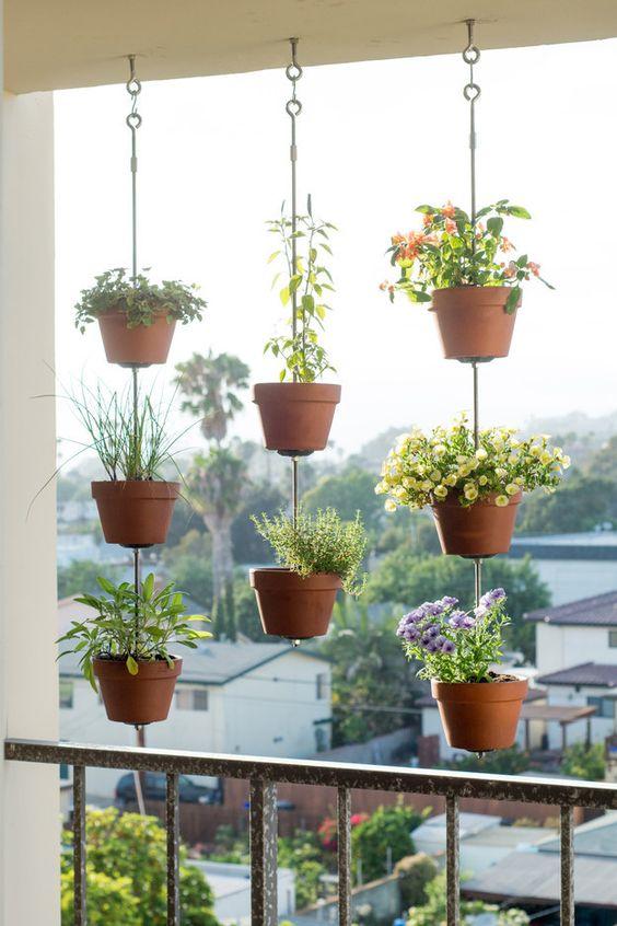 decoraçao de varandas plantas