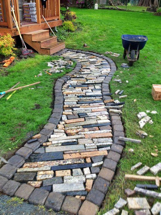 decoraçao do jardim com pedras