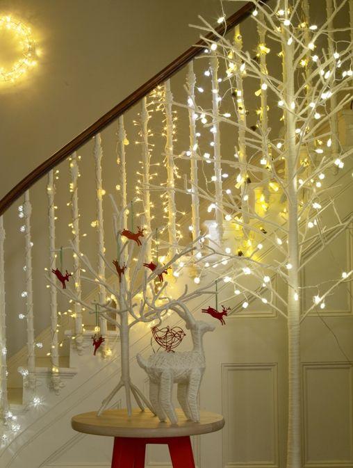decoraçao escadas com luzinhas pisca