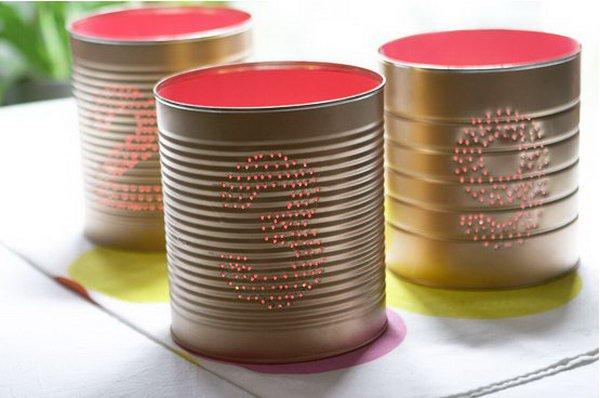decoraçao festa latas