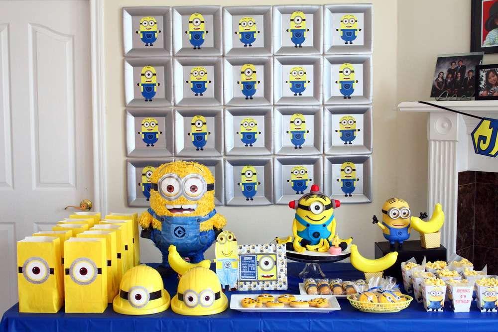 decoraçao festa minion