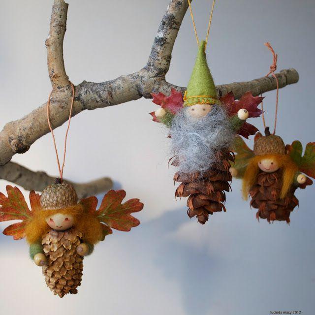 decoraçao natal duendes pinhas