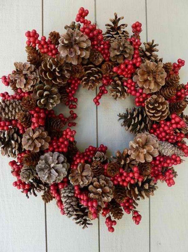 decoraçao natal pinhas