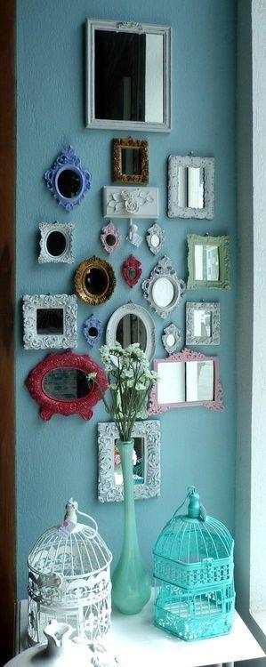 decoraçao paredes com quadros