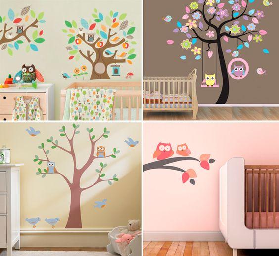 10 Ideias Giras para Decorar o quarto do Bebé ~ Adesivos De Parede Para Quarto De Bebe Urso