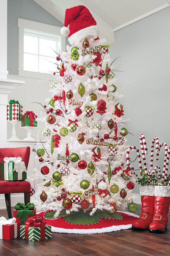 decoracao arvore natal branca 1