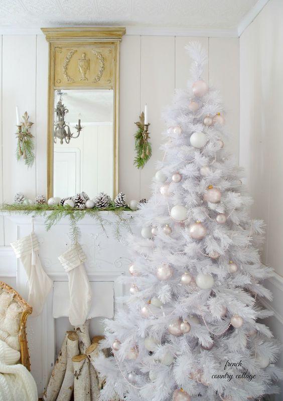 decoracao arvore natal branca 14