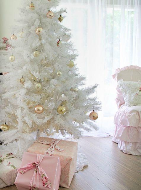 decoracao arvore natal branca 15
