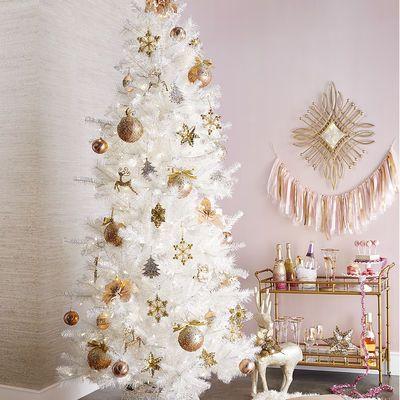 decoracao arvore natal branca 2