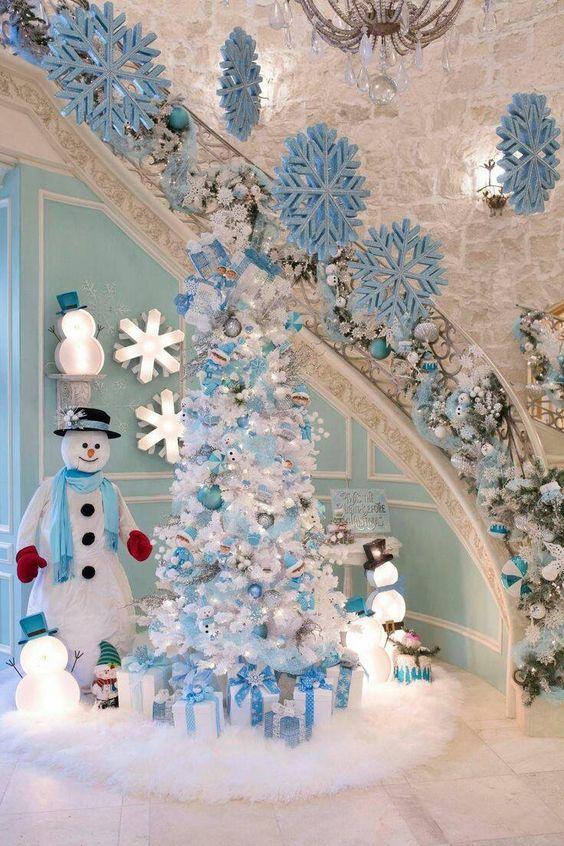 decoracao arvore natal branca 3