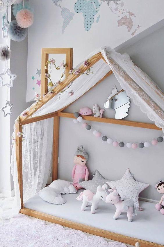 decoracao cama forma casinha 9