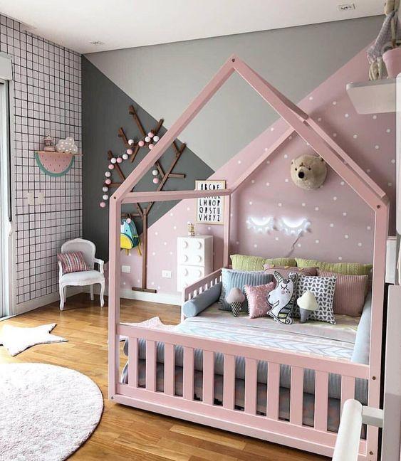decoracao cama forma casinha