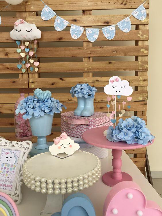 decoracao chuva amor mesa