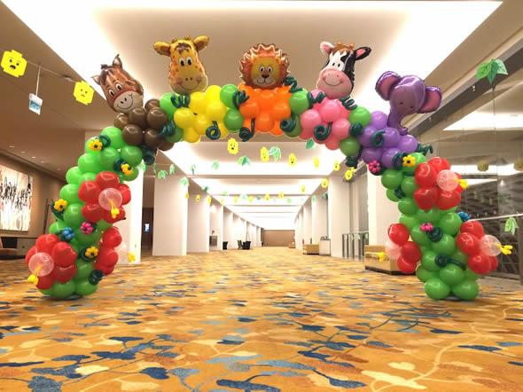 decoracao com baloes dia das criancas arco 1