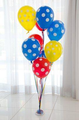 decoracao com baloes dia das criancas enfeites coloridos
