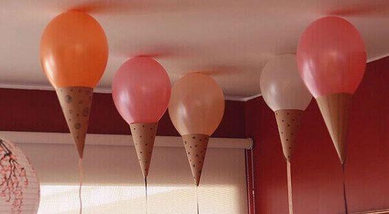 decoracao com baloes dia das criancas enfeites
