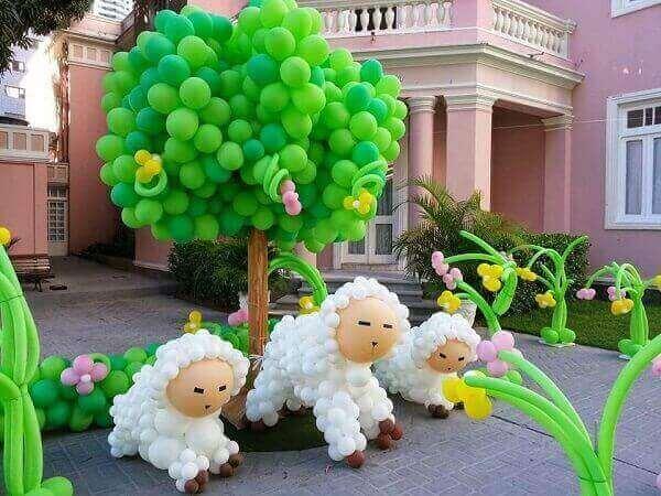 decoracao com baloes dia das criancas