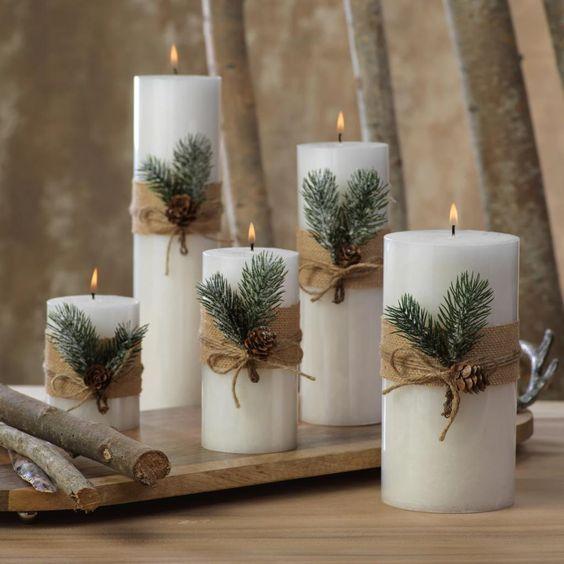 decoracao de natal com materiais naturais 5