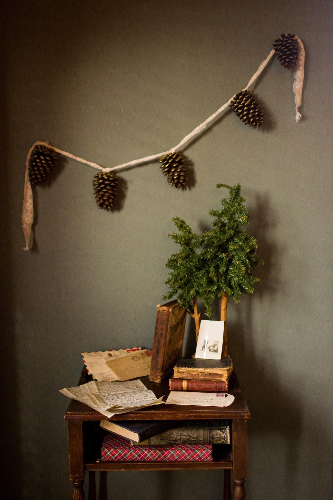 decoracao de natal com materiais naturais