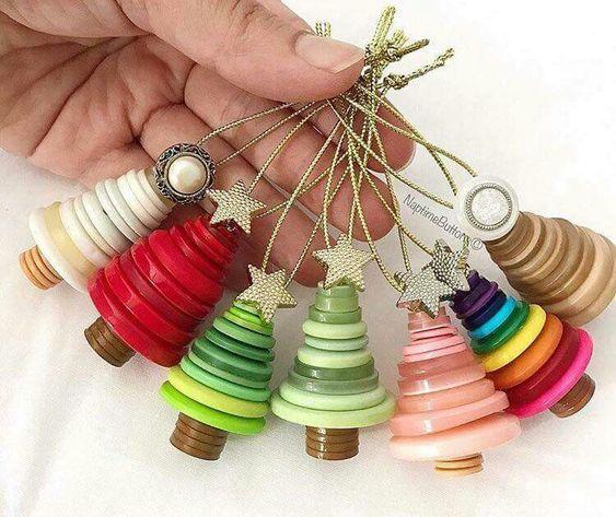decoracao de natal reciclagem botoes