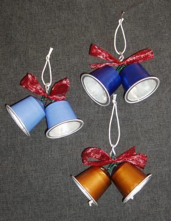decoracao de natal reciclagem capsulas cafe