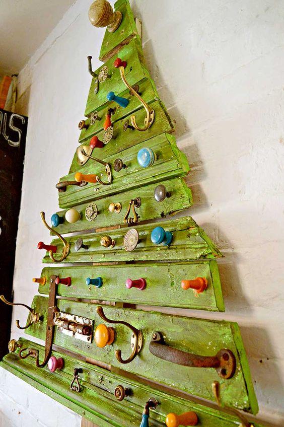 decoracao de natal reciclagem paletes