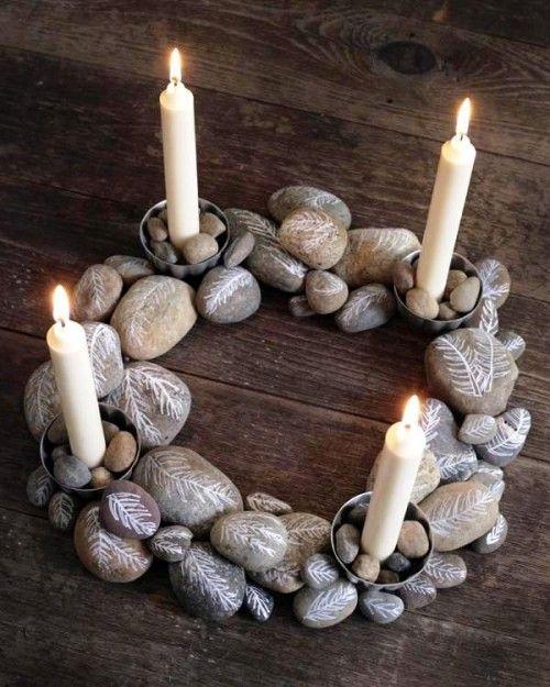 decoracao de natal reciclagem pedras