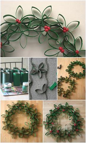 decoracao de natal reciclagem rolos papel higienico