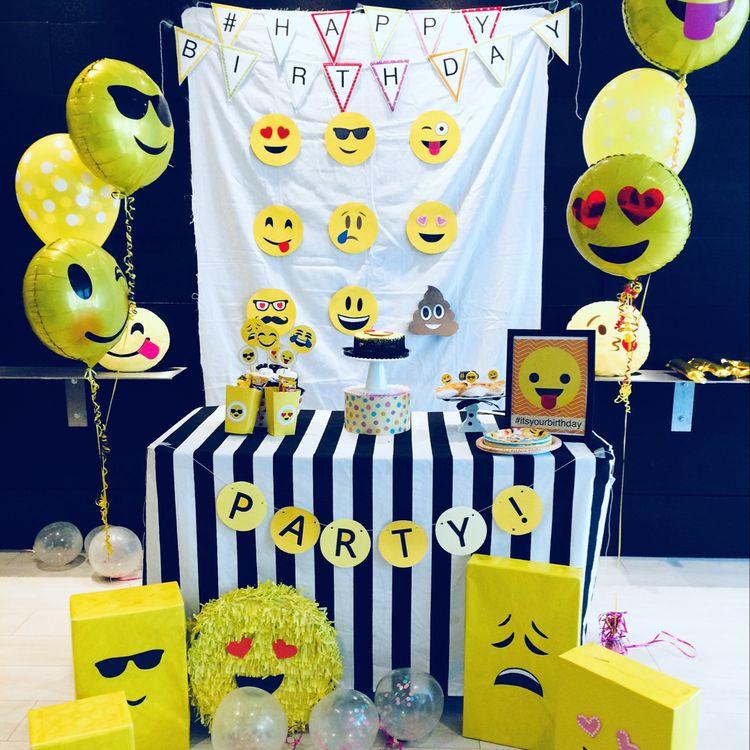 20 Ideias de Decoraç u00e3o de Festa Emoji -> Decoração De Festa Tema Emoji