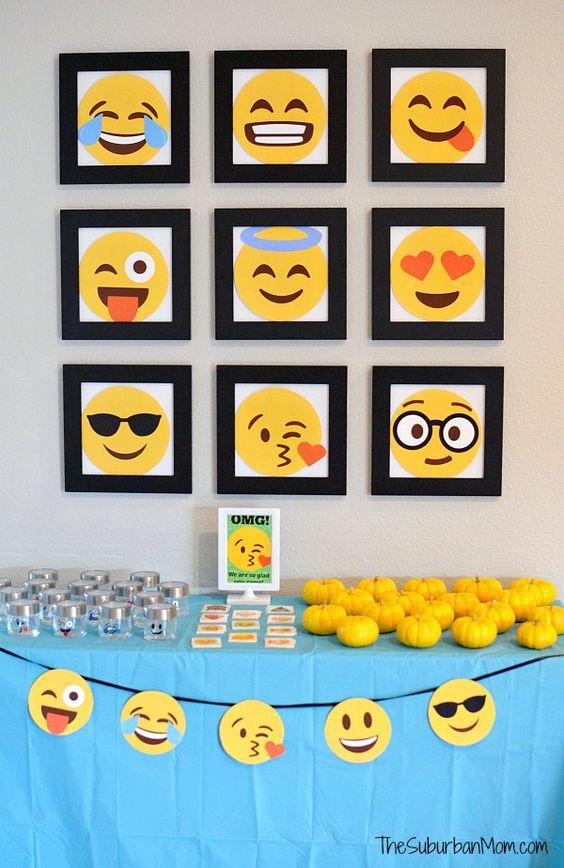 decoracao festa emoji 15