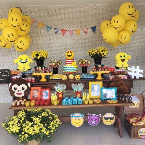decoracao festa emoji 8