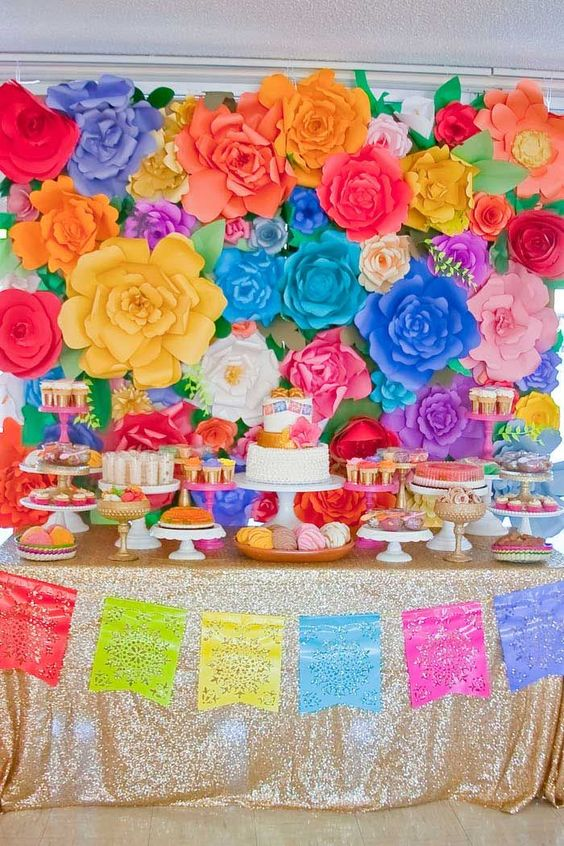decoracao festa flores gigantes 1