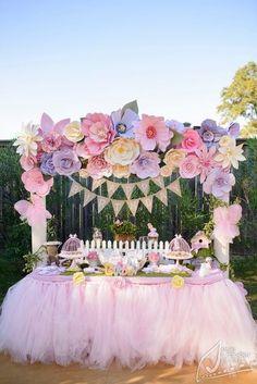 decoracao festa flores gigantes