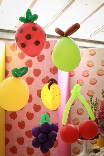 decoracao festa fruta baloes
